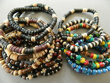 20 X BRACELET WOOD BEAD WRISTBAND FRIENDSHIP wholesale party bags school gift