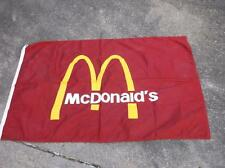 McDonald's Flag  Very Large Restaurant Advertising Collectable Fast Food Nylon