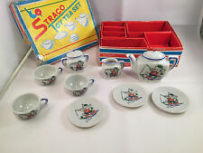 Vintage Straco mini toy tea set 11 pcs 1940's rare