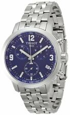 Tissot T0554171104700 PRC 200 Chronograph Steel Men's Blue Dial Watch New in Box