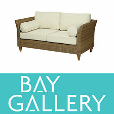 New Balinese style outdoor rattan wicker 2 seat lounge sofa chair furniture pe
