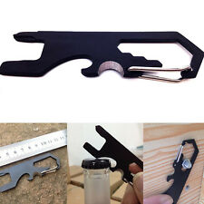 1PC Pocket Multi-Carabiner Keychain Opener Cutting Rope Screw Driver  EDC Tools