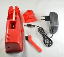 NEW Red Electric  Automatic Cigarette injector Tobacco Rolling adjustable switch