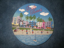 South Beach, Miami, Florida, Large Souvenir Collectible Plate/ Stand