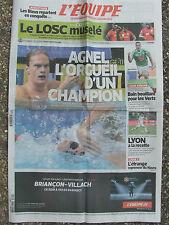 L'Equipe du 21/8/2014 - Agnel - Le LOSC - Les Verts - Lyon - Le Havre