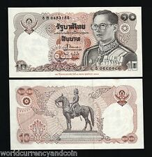 THAILAND 10 BAHT P98 1995 COMMEMORATIVE KING HORSE UNC CURRENCY MONEY BILL NOTE