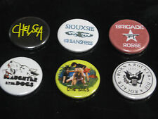 Quality Retro Punk Pin Badge Set Of 6, Slits, Chelsea, Slaughter...,Clash  etc