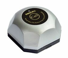 SINGCALL Wireless Calling System,Silver Single Call Button,Call Waiter System