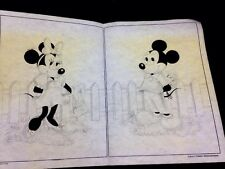 Vintage Fold-out Felt Pictures of Mickey Mouse and Minnie Mouse, very old