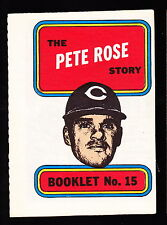 1970 TOPPS BOOKLETS #15 PETE ROSE REDS