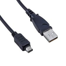 USB Battery Charger + Data SYNC Cable Cord For Olympus Camera Stylus SZ-16 XZ-10