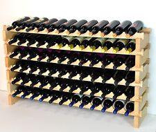 Modular Wine Rack 72 Bottles 6 Rows 12 Bottles Across Solid Beechwood *New Model