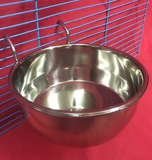 Dog Cat Bird Rabbit Cage Clip On Water Food Bowl Countainer 2 Hook Coop Cup 12cm