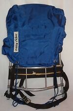 VNT External Frame Backpack Hiking Travel Pack Easy Rider 7 Compartments Blue