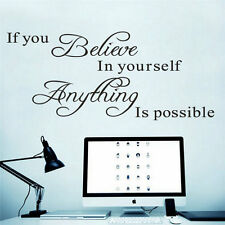 If you believe in yourself Quote Removable Vinyl Decal Art Mural Wall Sticker FO