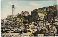 CAPE ELIZABETH - Portland Head Lighthouse - Maine - USA - c1900s era