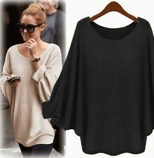 Autumn Winter Women's Batwing Sleeve Sweater Tops Blouse Clothes Coat Party Top