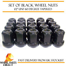 "20 * 1/2"" UNF Half Inch Black Alloy Steel Wheel Lug Nuts 60 Degree Tapered Bolts"