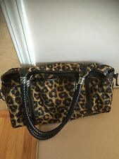 Brighton LEOPARD MICROFIBER Extra Large Tote * Lots of pockets * Keyhook * RARE