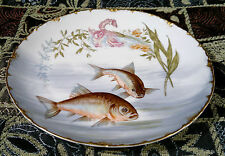 Antique R/C Crown Rosenthal Versailles Bavaria Fish Plate Hand Painted 1898~1906