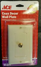 ACE coax decor wall plate Ivory video part # 36312 great for cable or internet
