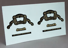 2 OZARCA ARMADA 78 TUBE RADIO WATER SLIDE DECAL FOR RESTORATION