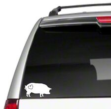 "Love Pot Bellied Pig 6"" Car Vinyl Sticker Decal hog pet farm heart gift *J27*"