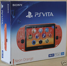 New PS Vita PCH-2000 ZA24 Neon Orange Wi-Fi Console Sony PlayStation Japan Model