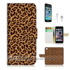 iPhone 7 PLUS (5.5') Flip Wallet Case Cover P0229 Leopard Pattern