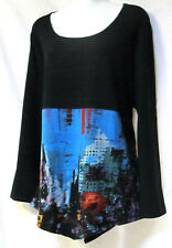 plus sz M (18-20) TS TAKING SHAPE 'City Scape' soft draping funky tunic Top NWT!