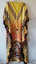New Women Caftan Kaftan Maxi Dress African Dashiki Hippie Boho Plus Size Orange