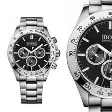 Hugo Boss 1512965 Silber Schwarz Edelstahl Herrenuhr Armbanduhr NEU & OVP