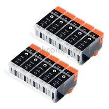 10x CANON bk XL PGI 5 für Drucker IP3500 IP4200X IP3300 IP4300 IP4500X IP5200R