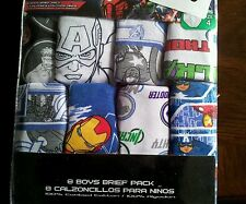 New 100% cotton 8 pack boy's briefs Size 4 Marvel Avengers Characters para ninos