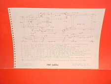 1967 CADILLAC DEVILLE CONVERTIBLE FLEETWOOD 60 SPECIAL FRAME DIMENSION CHART