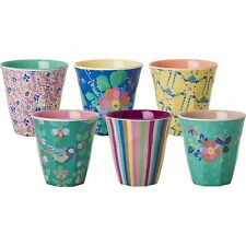 Pack of 6 small RICE Melamine cups