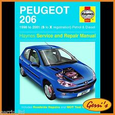 3757 Haynes Peugeot 206 Petrol & Diesel (1998 - 2001) S to X Workshop Manual