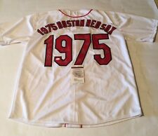 1975 Boston Red Sox World Series Team Signed Jersey JSA Witnessed COA