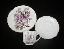 Lilac Fairy Teacup & Plate Set for Children Reutter Porcelain 75.534/4 3pc