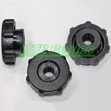 10 BLACK Plastic Nylon M6 Thumb Nuts With Collar, 24mm OD