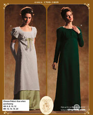 OOP SIMPLICITY 4055 REGENCY CIRCA 1795-1825 DRESS COSTUME PATTERN SIZE 14-20