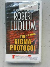 The Sigma Protocol ~ Robert Ludlum Abridged 4 Cassette Audiobook Set Library Ed