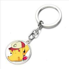 Anime Pokemon Pikachu Poke Ball Keychain Keyring Pendant Chain Bag Charm