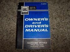 1966 GMC Truck 4000-9500 Owner Owner's User Guide Operator Manual 5.7L V6