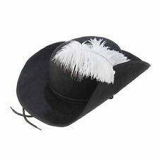 Three Musketeers Hat Feather Cap Pirate Buccaneer Adult Costume 3 Accessory New