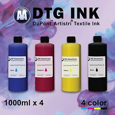 DTG Ink CMYK 1000ml x4 Dupont Artistri Digital Ink for Direct to Garment Printer
