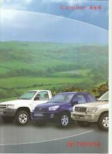 Catalogue Katalog Prospekt TOYOTA GAMME 4X4 ANNEE 2000 6 pages
