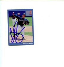 Bill Wegman Milwaukee Brewers Hutch Award Signed Autograph Photo Card