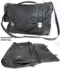 picard euro jet 2001 laptop de luxe college bag tasche leder leather attaché