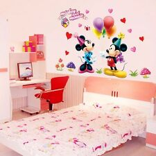 New Mickey Mouse Minnie Disney Cartoon Wall Stickers Decals Kids Room Home Decor